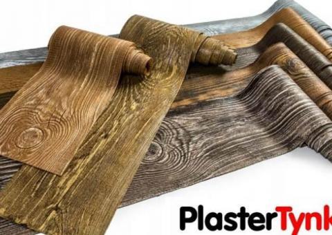 Elastyczne deski elewacyjne PlasterTynk - imitacja drewna. Dekostyl perfectstyr dekordeska dekorlux